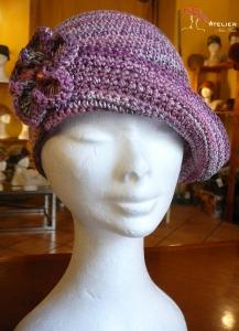 Cappello rosa melange