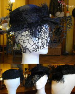 Cappello raso veletta