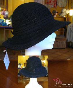 Cappello tesa ampia nero